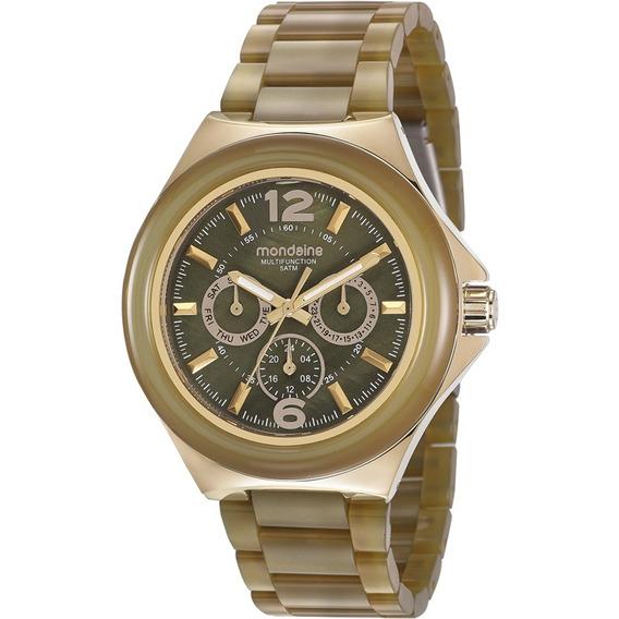 Relógio Mondaine Feminino Verde Ocre Original 99331lpmvdf3