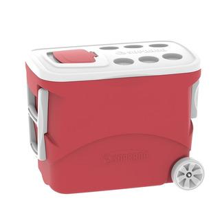 Caixa Cooler Térmico 50 Litros Com Rodas Soprano Vermelha