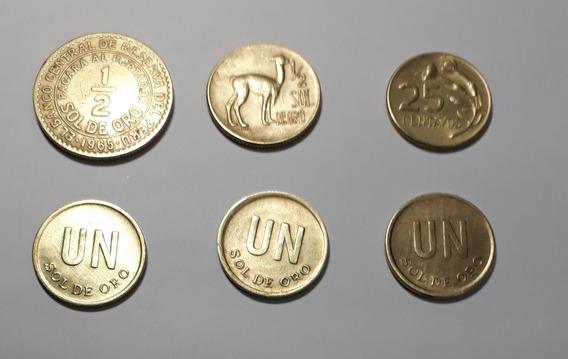 Lote De 6 Monedas Peruanas 1965-1972/73/75/76 No Hago Envios