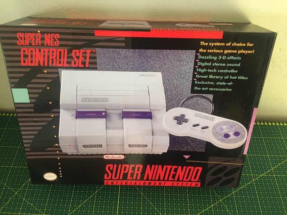 Caixa Super Nintendo (somente Caixa Para Reposição)
