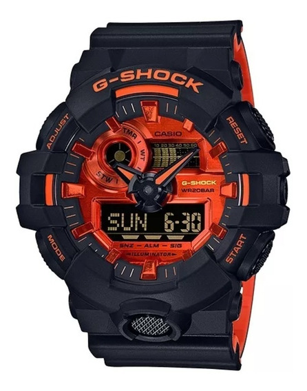 Relogio Casio G-shock Ga-700br-1a Laranja Frete Gratis 12x