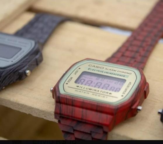Relógio Casio Vintage Amadeirado