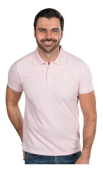 Playeras Polo Hombre Casual Moda Rosa Claro Lisa A90100