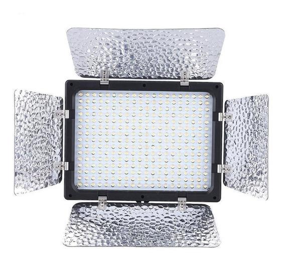 Iluminador Led 300 Leds + Bateria Foto Video Dslr Canon W300