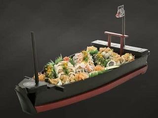 Barcos Y Puentes Grandes Para Sushi Medida 90x27x9.