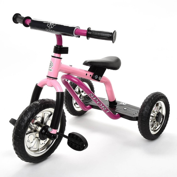 Triciclo Sport Acero Scoop Reforzado 25kg A Pedal + Colores