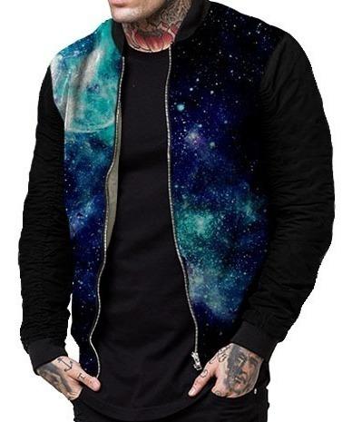 Jaqueta Agasalho Zíper Galaxia Tumblr Nebula Swag 3d Ny