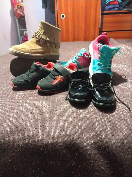 4 Pares De Zapatillas Niños