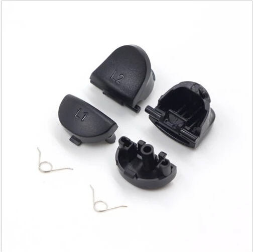 Kit Botoes L1 R1 L2 R2 + Molas + Brinde Para Controle Ps4 Jds Jdm 001 011 020 Playstation 4