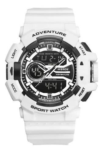 Relógio Masculino Branco Original Frete Grátis Esporte