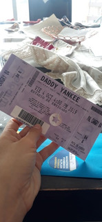 Boleta Palco Daddy Yankee Cangry