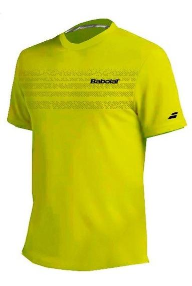 Remera Babolat Hombre T Shirt Team Amarillo