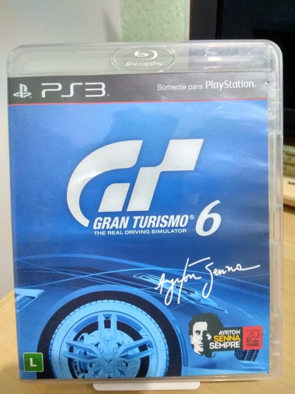 Gran Turismo 6 Airton Senna Ps3 Usado Frete Cr 12,00