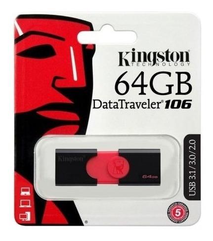 Pen Drive 64gb E Cartão De Memória 64gb Kingston