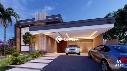Casa Com 4 Suítes À Venda, 250 M² - Condomínio Santa Clara - Indaiatuba/sp - Ca2552