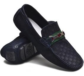 Mocassim Sapato Drive Gucci Masculino Casual 100% Couro