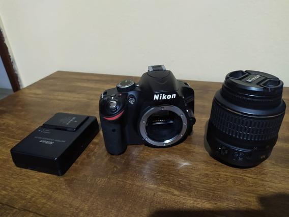 Camera Digital Dslr Nikon D3200 Semi Nova