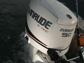 Motor Nautico Fuera De Borda Evinrude E-tec 90 Hp 0km Nuevo