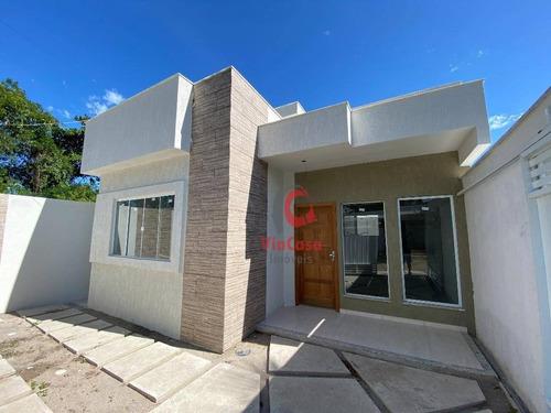 Casa Linear Com 2 Quartos Sendo 1 Suíte À Venda, 66 M² Por R$ 295.000 - Ouro Verde - Rio Das Ostras/rj - Ca2053