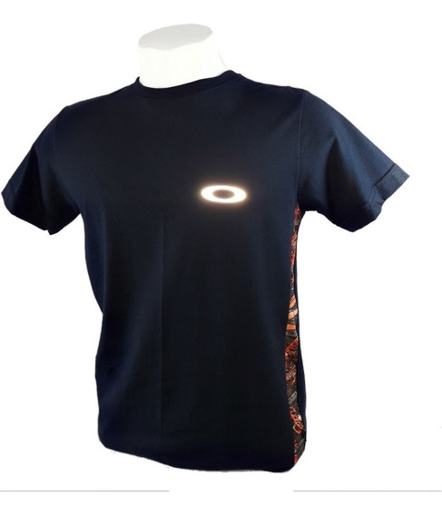 Kit 3 Camiseta Oakley Refletiva Olho De Gato Brilha No Escur