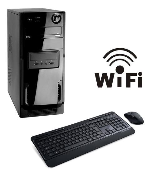 Cpu Core 2 Duo 4gb Ssd 120 Wifi Windows10 + Teclado E Mouse