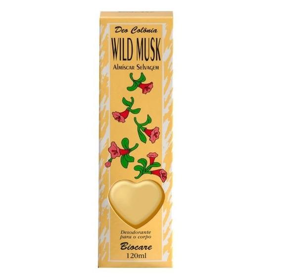 Colônia Wild Musk Almíscar Original 120ml Biocare - Envio Im