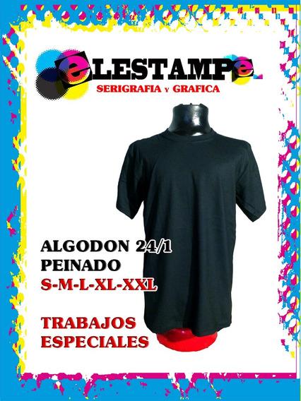 Remeras Lisas Algodon 24/1 Peinado Elestampe Avellaneda