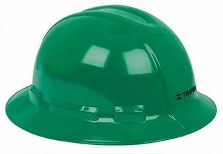 Casco Seguridad Ala Ancha Verde Truper 10572