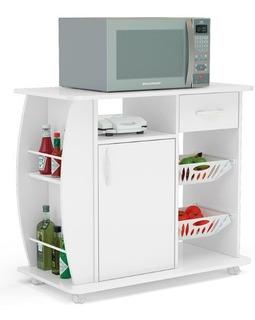 Mueble Organizador Para Cocina Con Espacio Para Microondas