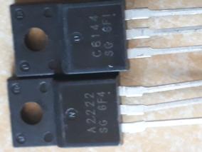 Par Transistor 2sa2222 2sc6144 To-220f C6144 A2222 Novo