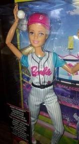 Boneca Barbie Baseball Made To Move- Articulada