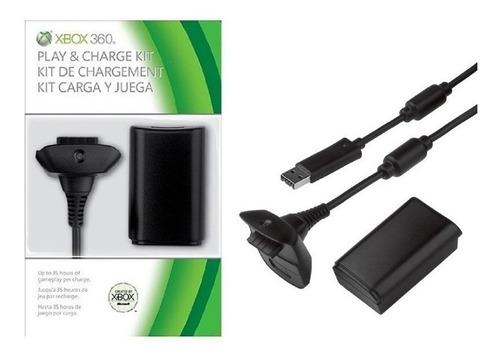 Xbox 360 Cable Cargador De Controles + Batería - Sertel