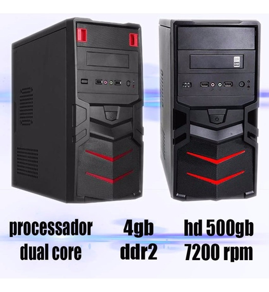 Computador Hd500gb 2gb Dual Core +windows 7+ Office Completo