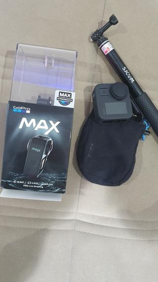 Gopro Max + Bastão + Cartão 128gb, Tudo Original.