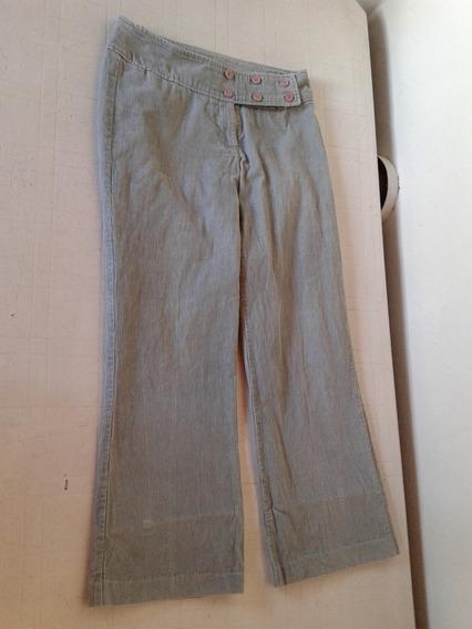 Pantalon Corderoy Color Gris Claro Marca Orix
