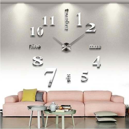 Reloj De Pared Con Diseño 3d A La Moda (blanco)