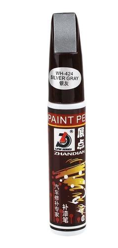 Imagen 1 de 1 de Lapiz Quita Repara Rayas Rayones En Pintura Color Gris Plata