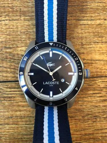 Relógios Lacoste Nylon Azul - Zerado!! Peça De Coleção!