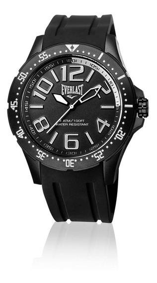 Relógio Masculino Everlast Esporte E670 48mm Silicone Preto