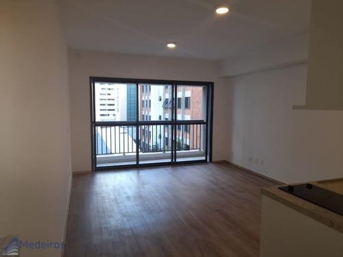 Apartamento Studio, 01 Dormitório, Predio Novo Com Lazer, 300 Metros Metrô, Rua Genebra- Bela Vista. - Md828
