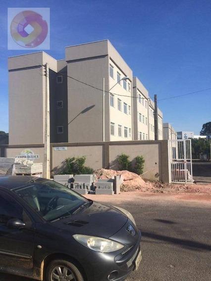 Apartamento Pronto Para Morar Com 2 Dormitórios À Venda, 43 M² Por R$ 136.000 - Ouro Verde - Campo Largo/pr - Ap0163