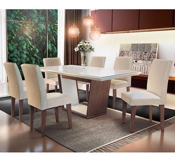 Conjunto De Mesa Sofia Com 6 Cadeiras Grécia-rufato