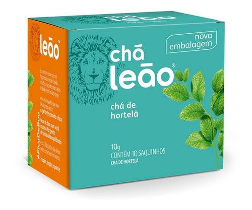 Imagem 1 de 2 de Chá Leão Ervas - Hortelã - 10 Sachês