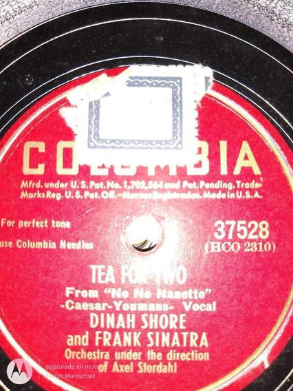 Disco Pasta 78 Rpm Dinah Shore Frank Sinatra Columbia C118