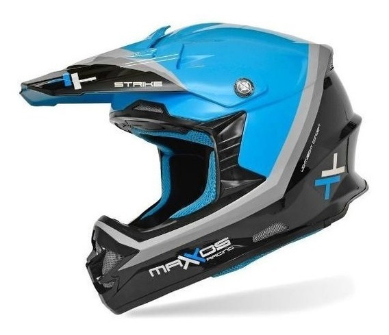 Capacete Mattos Racing Mx Pro Strike Azul