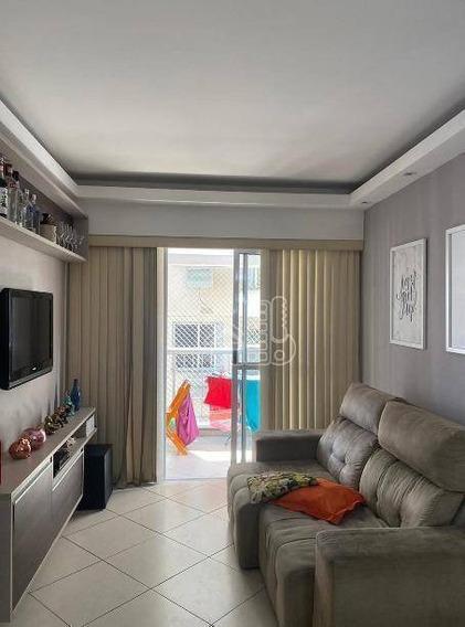 Apartamento Com 2 Dormitórios À Venda, 72 M² Por R$ 345.000,00 - Santa Rosa - Niterói/rj - Ap3353