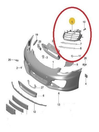 Grade Direito Do Para-choque Diant Porsche 981505564001e0