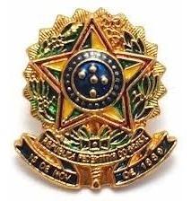 01 Pin Broche Brasão República F. Do Brasil
