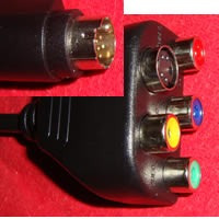 Cable Adaptador 8 Pin S-video A Rca Rgb Audio Y Video