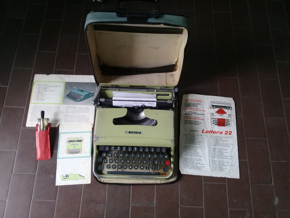 Maquina De Escribir Olivetti Lettera 22 Italiana